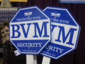 Check out THIS security system! Their table was by mine at the conference. Learn more at InMarysName.com.